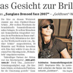 Sunglass Dressed Face 2007 in der PZ