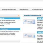 Neues Kontaktlinsenportal von Acuvue online