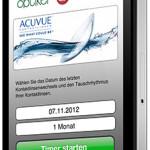 Kontaktlinsen Erinnerung und Bestellung per Smartphone
